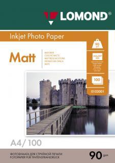 Матовая бумага Lomond A4 90 г/м2