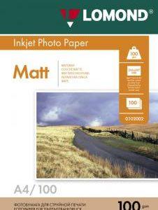 Матовая бумага Lomond A4 100 г/м2 100 листов