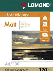 Матовая фотобумага Lomond A4 120 г/м2 100 листов