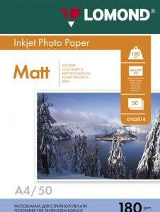 Матовая бумага Lomond A4 180 г/м2