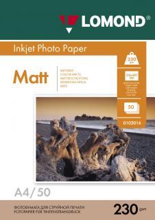 Матовая фотобумага Lomond А4 230 г/м2 50 листов