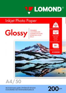 Глянцевая бумага Lomond А4 200 г/м2 50 листов