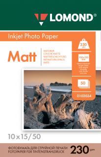 Матовая бумага Lomond 10х15 230 г/м2 50 листов