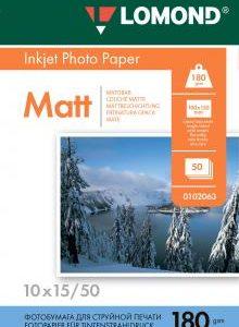 Матовая фотобумага Lomond 10x15 180 г/м2 50л