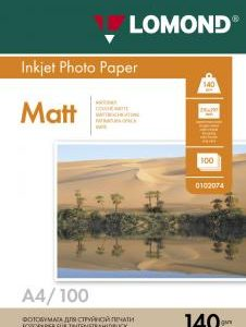 Матовая фотобумага Lomond A4 140 г/м2 100 листов