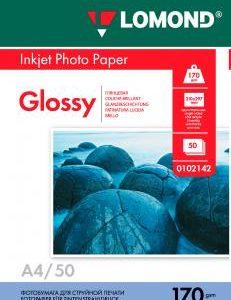 Глянцевая фотобумага Lomond A4 170 г/м2 50 листов