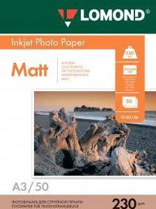 Матовая фотобумага Lomond A3 230 г/м2 50 листов