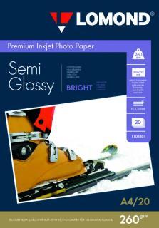 Полуглянцевая фотобумага А4 Lomond 260 г/м 20 листов