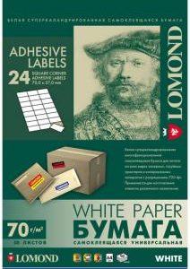Самоклеящаяся бумага Lomond 24 деления 50л.