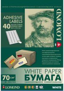 Самоклеящаяся бумага Lomond 40 делений 50л.