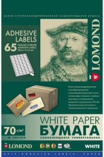Самоклеящаяся бумага Lomond 65 делений 50л.