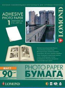 Матовая самоклеящаяся бумага Lomond А4 25 листов