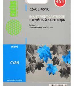 Картридж CLI-451C аналог в Canon iP7240, MG6340