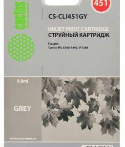 Картридж CLI-451GY серый аналог в принтер Canon