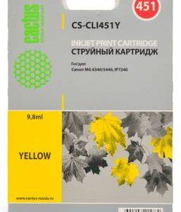 Картридж CLI-451Y аналог желтый для Canon IP7240