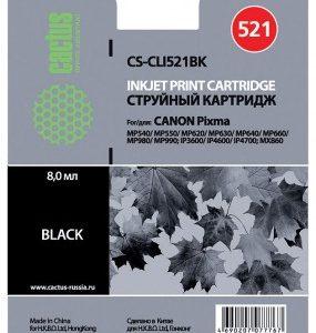 Картридж Canon CLI-521BK аналог iP3600, iP4600