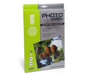 Фотобумага Cactus 230 г/м2, глянцевая А3 50л