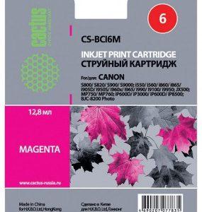 Картридж Canon BCI-6M аналог пурпурный Cactus