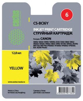 картридж Canon BCI-6 аналог желтый