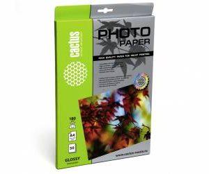 Глянцевая фотобумага Cactus 180 г/м2 А4 50 листов