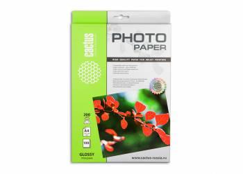 Глянцевая бумага Cactus 200 г/м2 А4 100л