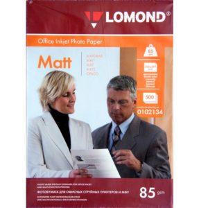 Бумага Lomond матовая А4 85г/м 500 листов