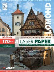 Фотобумага для лазерной печати A4 170 глянцевая