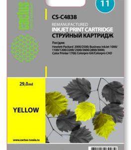 Совместимый картридж HP 11 C4838 желтый