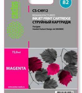 Совместимый картридж HP 82 C4912 пурпурный
