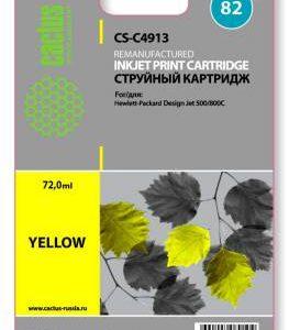 Совместимый картридж HP 82 C4913 желтый