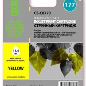Картридж аналог HP 177 C8773 желтый C7283/C8183