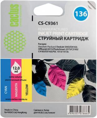 Совместимый картридж HP 136 цветной C9361
