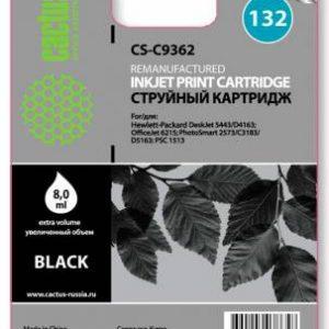 Картридж HP 132 аналог C9362 черный Cactus