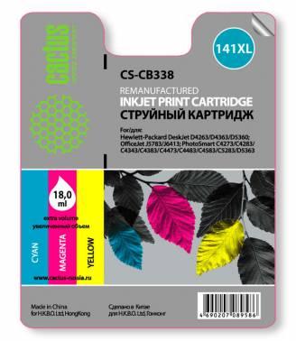 Совместимый картридж HP 141 XL цветной CB338