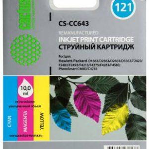 Совместимый цветной картридж HP 121 CC643