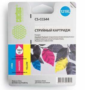 Совместимый картридж HP 121 XL CC644 цветной