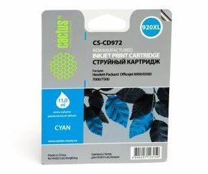 Совместимый картридж HP 920 XL CD972 синий