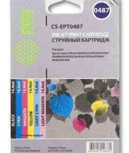 Комплект картриджей T0487 в Epson R200/R220 аналог