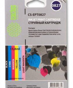 Набор картриджей Epson T0827 в R270/290/RX610/T50