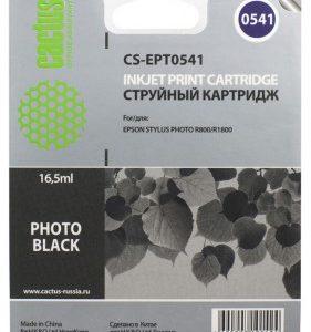 Картридж в Epson R800, R1800 черный аналог T0541