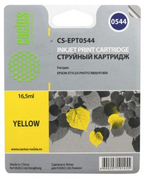Картридж для Epson R800 R1800 T0544 желтый аналог