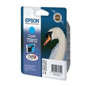 Картридж Epson T0812 в принтер R270 R390 RX615
