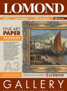 Льняная художественная бумага Lomond 170 гр A3