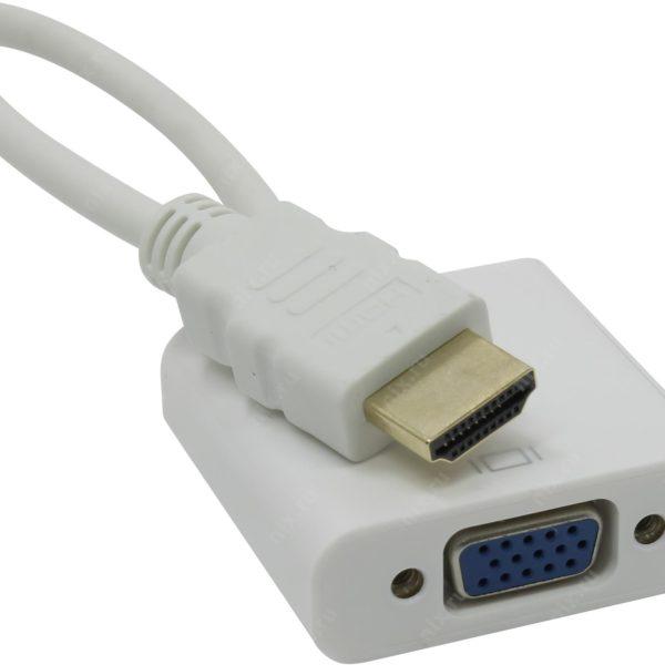 Переходник HDMI VGA (15F) видео и аудио