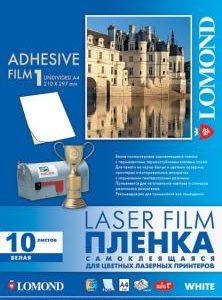 Белая самоклеящаяся пленка А4 для лазерного принтера