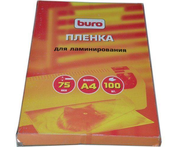 Пленка для ламинирования Buro 75 мкм A4 100 листов