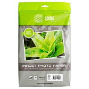 Глянцевая фотобумага Cactus A4 230 г/м2 50 листов ECO