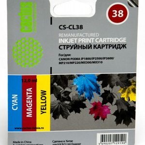 Совместимый картридж Canon CL-38 цветной аналог