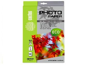 Фотобумага Cactus 180 г/м 10х15 глянец 100 л ECO