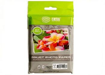 Фотобумага 10х15 230 грамм Cactus 50 листов
